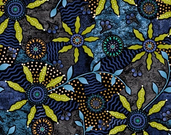 Bush Potato Fabric - Paintbrush Studio - Walkabout II 120 14402 - Priced by the half yard