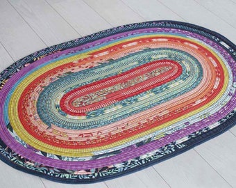 Jelly Roll Rug Pattern - Choose Square, Rounded, or Colossal - Rona Lambson -  DIY Project - Pattern only