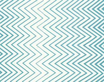 Chevron Fabric - Simply Style Ombre by V & Co for Moda Fabrics 10813 18 Aquatic Blue - Priced by the 1/2 yard