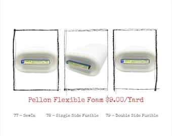 Pellon FF77, FF78, FF79 - Flex Foam Craft & Home Decor Stabilizer - One Yard, 20-Inch Wide - Sew-In or Fusible Option