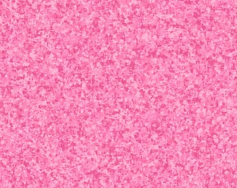 Wild Rose Pink Solid Textured Fabric - Quilting Treasures QT Basics Color Blend - 23528 P - Priced by the 1/2 yard