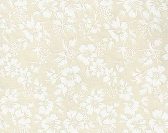 Flower Imprint - Basic palette  18606 TWT - Cream and Tan - Priced by the 1/2 yard