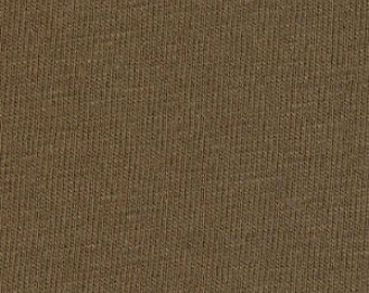 Knit Fabric - Karavan Knit Solid in Coco Jersey Knit by Valori Wells for Free Spirit JKDEKAR Mocha Brown - Priced by the half yard