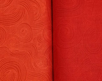 Just Color - Color Swirl - Color Tonal - Studio E - 1351 Red or Red Delicious - Priced by the half yard