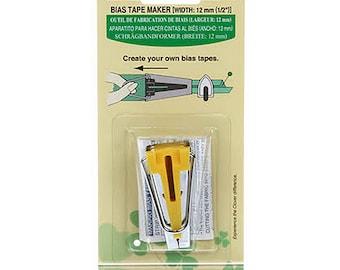 Bias Tape Maker - Size 12mm (Half Inch) Clover 464 Yellow