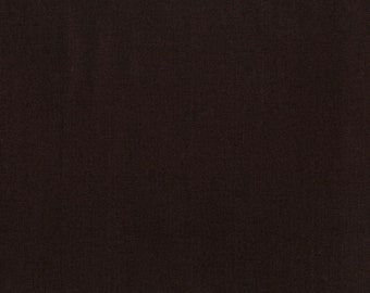 Dark Brown Solid Fabric - RJR Fabrics - Cotton Supreme  9617 201 Espresso - Priced by the half yard