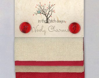 Wool Charm Pack by Phyllis Meiring for In the Patch Designs - 5-Inch Squares, 5-Pack, Metallic Accent