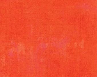 Orange Textured Fabric - Tangerine Grunge by BasicGrey for Moda Fabrics 30150 263 Medium Orange - Priced by the 1/2 yard