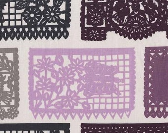 Lace Print Cotton Fabric - From Seedling by Thomas Paul for Michael Miller  Fabrics DC 6840 Plum - Priced by the 24-Inch Repeat panel