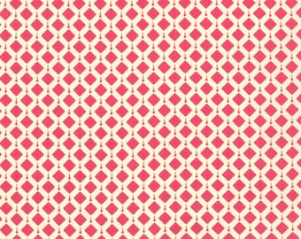 Geometric Fabric - Summer House Geometric Belmont Popsicle Pink by Lily Ashbury for Moda 11448 17 - Priced by the 1/2 yard