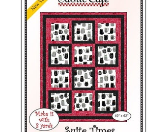 """Fabri-Cafe 3-Yard Quilt - Suite Times - Mystery Quilt Kit - Finishes 49"""" x 62"""""""