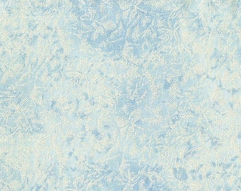 Fairy Frost Blue Fabric - Glimmer Metallic Fabric - Michael Miller CM 0376 Cloud - Pale Blue Silvery Shimmer - Priced by the 1/2 Yard