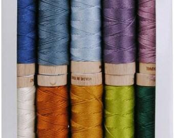 Aurifil Floss, Aurifil embroidery floss, Aurifloss - Sheena Norquay Scottish Highlands - 10 pack, 6-strand, assorted colors, 18 yards each