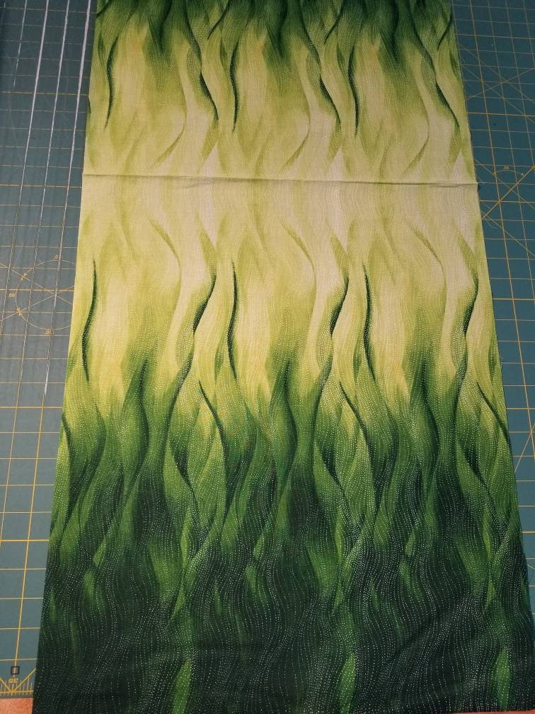 MAS 90302 S Yellow Leaf Blade Spray-  Maywood Studio Priced by the 12 yard Rejuvenation Gentle Leaves