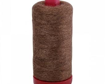 Aurifil 12wt Wool Thread - Wool Lana Acrylic/Wool Embroidery & Quilting Thread 12 wt - 50% wool - Brown 8087