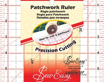 Square Ruler - Patchwork Ruler - by Tacony Sew Easy - 6-1/2 -Inch Acrylic NL 4177