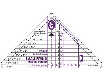 Flying Geese Triangle Ruler (Small) by Marti Michell -  MM8705 - Acrylic Rulers & Instructions