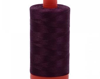 Aurifil 50wt thread - Very Dark Eggplant - 1240 - 50wt Mako, 1422 yards