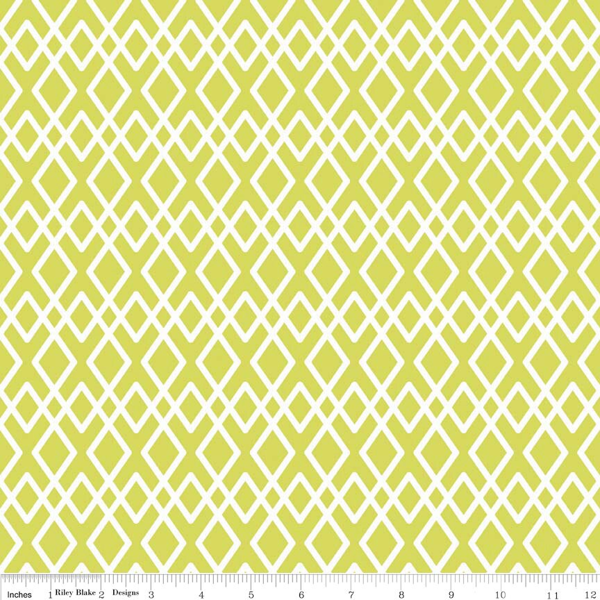 Lattice Fabric Lula Magnolia By Quilted Fish For Riley Blake