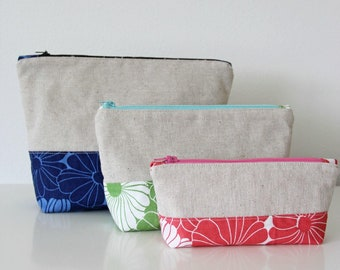 Pocket Holders, Zip Pouch, Color Block Pouches from V & Co -VC1214  - DIY Pattern in 3 sizes