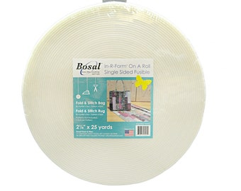 Bosal In-R-Form Single Sided Fusible Stabilizer White - Sold by the Precut Roll - 2-1/4in x 25yds or 20 yds   495BS 25/495B 20