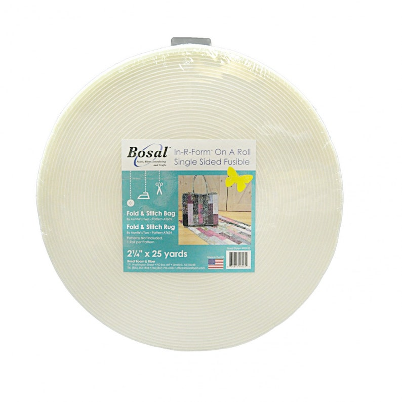 Bosal In-R-Form Single Sided Fusible Stabilizer White  Sold 25-Yard Roll