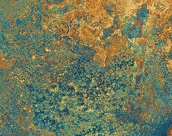 Solstice Fabric - Stonehenge 10th Anniversary - Basic Blender Gradations - Northcott  39302 69 - blue copper - Priced by the 1/2 yard
