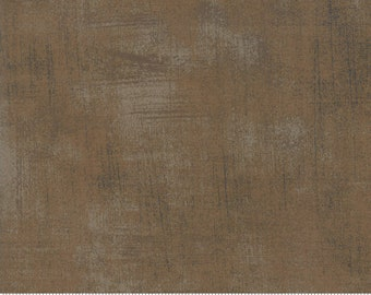 Brown Fabric - Fur Colored Grunge by BasicGrey for Moda Fabrics 30150 116 Brown with Gray - Priced by the 1/2 yard