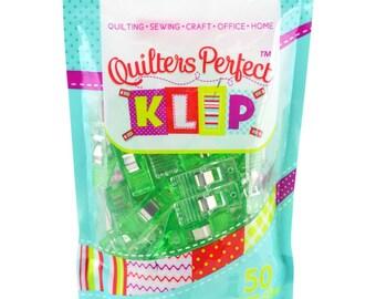 Fabric Clips, Binding Clips, Art Clips - Perfect Klip - Mini Me Klip It Simple Seam - 50ct bag, small - Choose Color Pack