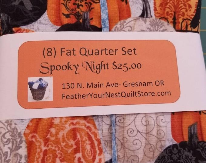 Featured listing image: Spooky Night - Fat Quarter Bundle with Coordinates - Grace Popp for Studio E - (8) Fat Quarters