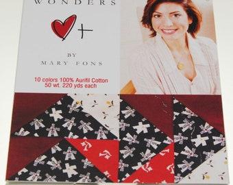 Aurifil 50wt Thread Collection - Mary Fons Small Wonders Thread Set - 10 spool  220yd per spool, Cotton