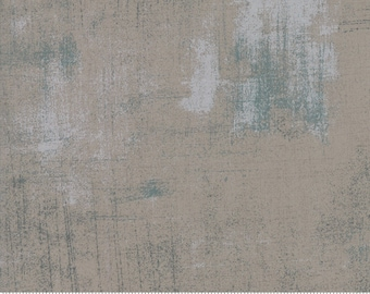 Moda Grunge - Textured Fabric - Gray Couture Grunge by BasicGrey  30150 163 Medium Gray - Priced by the 1/2 yard