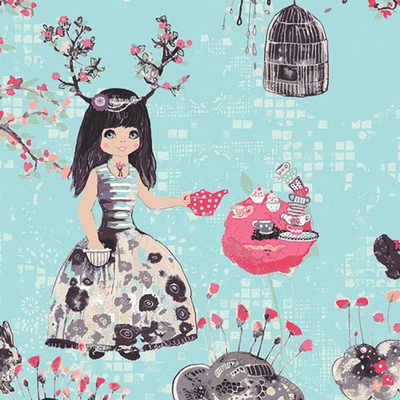 Alice in Wonderland Fabric Wonderlandia Fondant by Katarina image 0