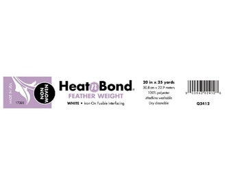 Heat N Bond Non-Woven - Feather Weight Fusible Polyester Interfacing - Thermoweb Brand 2412 - Priced by the yard x 20 inch wide