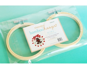 Kimberbell Bamboo Embroidery Hoops KIDKB 149 - 3.5 Inch - Sold in Pack of Two - Pattern NOT included