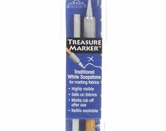 Soapstone Marking Pen - Cottage Mills Treasure Marker TM 600 - white soapstone - Starter pen - Refills available