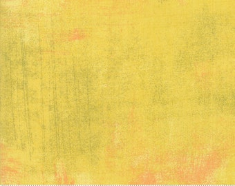 Curry Grunge fabric by BasicGrey for Moda Fabrics 30150 447 Yellow Curry - Priced by the half yard