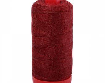 Aurifil 12wt Wool Thread - Wool Lana Acrylic/Wool Embroidery & Quilting Thread 12 wt - 50% wool - Burgundy 8265