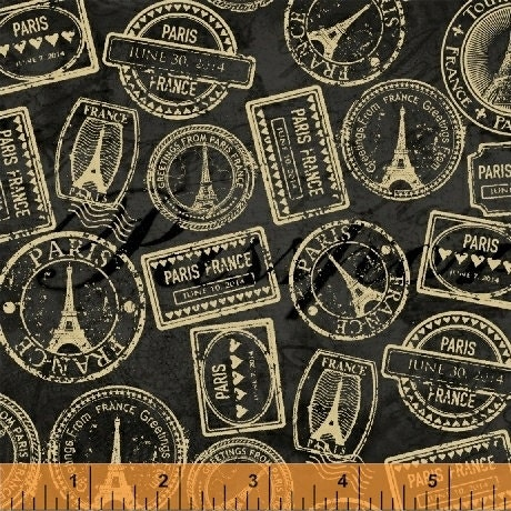 Travel France Eiffel Tower Cotton Fabric Windham Destination Paris By The Yard