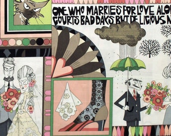 Ghastlie Love - Alexander Henry Fabric - Ghastly fabric  - 8788 B - Pink Green Taupe - Priced by the YARD