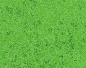 Fairy Frost Glimmer Fabric - Michael Miller CM 0376 Apple Green - Tone on Tone - Priced by the 1/2 Yard