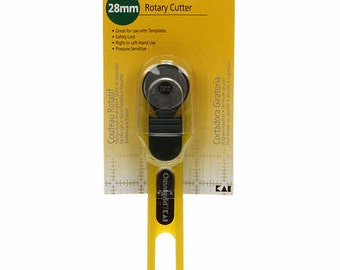 Omni Grid Safety Rotary Cutter 28mm # 2045 - Yellow - Pressure Sensitive Locking Device