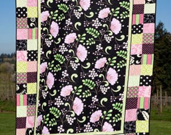 """Easy Quilt Pattern - Charisma by The Pine Needle - DIY Pattern - 65""""x85"""""""