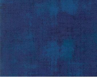 Blue Textured Fabric - Regatta Grunge by BasicGrey for Moda Fabrics 30150 352 Dark Blue - Priced by the 1/2 yard