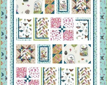 """Curio Fabric - Curiosities Quilt Top -  Betsy Olmsted for Windham  / Pattern by Wendy Sheppard - DIY Project - Finishes 56""""x67"""""""