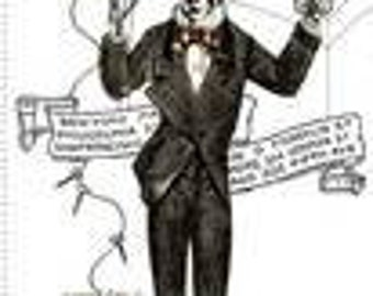 Skeleton Costume makers ball - JW Frisch - vintage style costumers - Master Tailor -  Riley Blake P8360-WHITE Priced by the 24-Inch panel