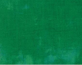 Green Grunge Fabric - BasicGrey for Moda Fabrics - 30150 390 Leprechaun - Medium Green - priced by the half yard