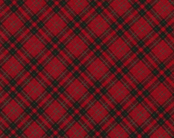 Christmas Cabin - Red Plaid - Timeless Treasures C5790 Red - Priced by the half yard