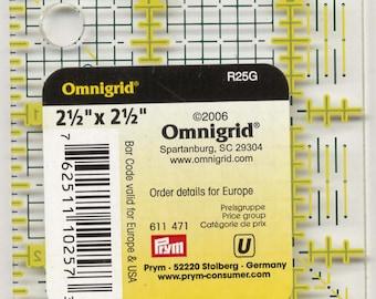 OmniGrid Square Ruler - 2.5 Inch R25G