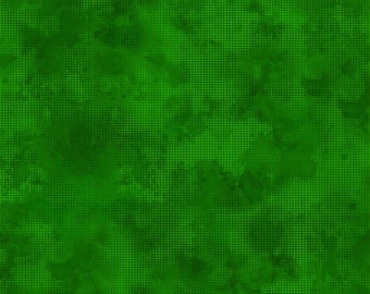 Dit Dot Evolution Fabric - Marble Fabric - In the Beginning Fabric -  1DDE-24 Medium Evergreen - Priced by the 1/2 yard